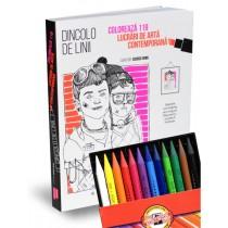 Dincolo de linii + set 12 creioane