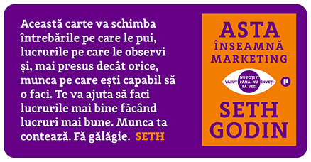 Asta inseamna marketing Seth Godin