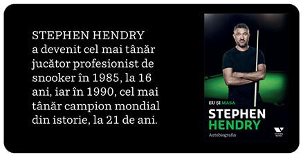 Autobiografia Stephen Hendry Eu și masa